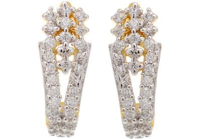 Aaishwarya Alluring CZ Crystal Brass Stud Earring