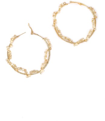 Rhea Oversized Icicle Hoops Crystal Hoop Earring