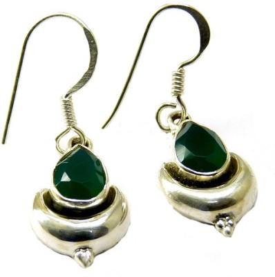 Miska Silver Beautiful Onyx Silver Dangle Earring