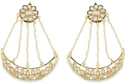 Aadi Creations Traditional Look Copper, Brass Chandbali Earring