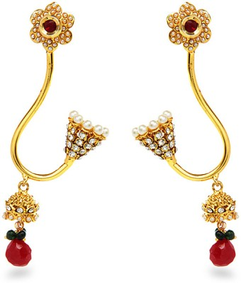 Aamoye Pearl Earring in High Gold Finish Alloy Dangle Earring