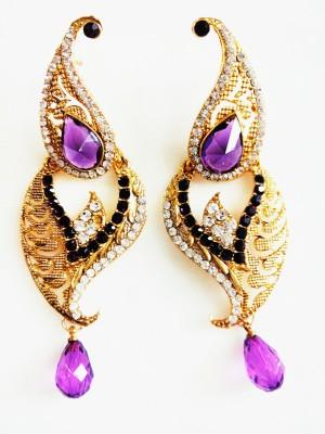 maya creation TREDITIONAL Yellow Gold Drop Earring