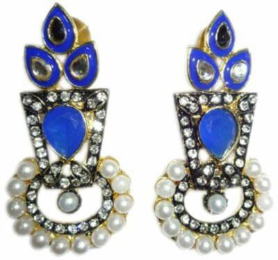 Y-RUS kundan pearl Alloy Drop Earring