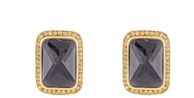 Art Nouveau Traditional Stone Brass Drop Earring