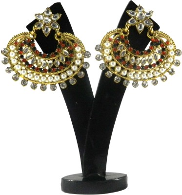 Tradeyard Impex Tribal Cubic Zirconia Alloy Chandbali Earring