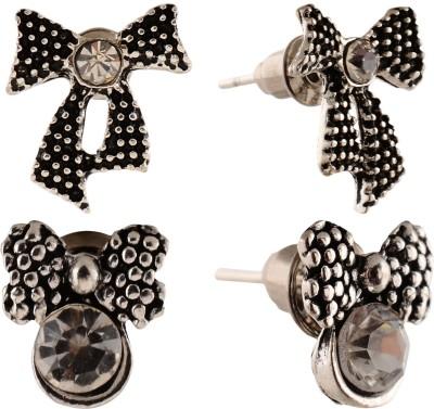 Anokhi Ada Bowknot Metal Stud Earring