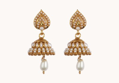 Aashvi Creation Ethnic Ruby Alloy Jhumki Earring