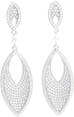 Glitz Design GlitzDesign Marquis Drop Earrings Cubic Zirconia Sterling Silver Drop Earring