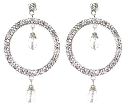 Eli John Styles Silver Diamond Alloy Earring Set