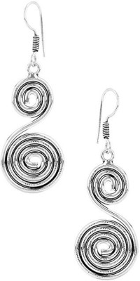 Gemshop PAIR OF SPIRAL SHAPE ON OXIDIZED Alloy Dangle Earring