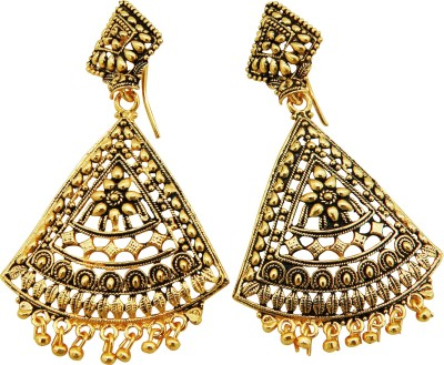 Shreyadzines Golden sparkle Alloy Dangle Earring