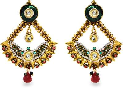 Aamoye Kundan Earring in Gold Finish Alloy Chandbali Earring