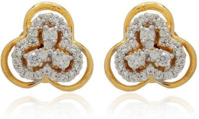 Luxor Evergreen Designer Brass Stud Earring