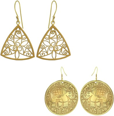 925 Silver Traditional Brass Combo Alloy Earring Set