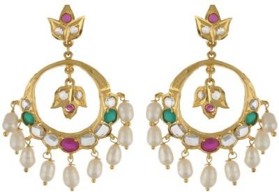 Nisa Pearls Fashion Delight Onyx Alloy Dangle Earring