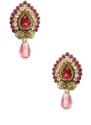Taruni Pink Shining Earrings. Alloy Drop Earring