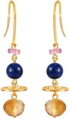 VelvetCase Gemstone Energy Earrings Citrine Silver Stud Earring