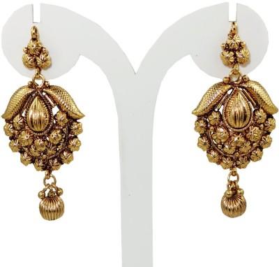 Anjan Charming Designer Golden Alloy Drop Earring