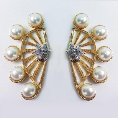 Fashion Max Adjustable Design Brass Stud Earring