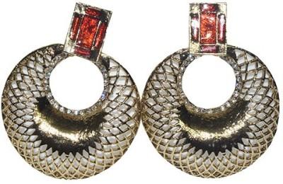 Mrinalini Golden Push Back Alloy Chandbali Earring