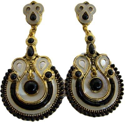 Store Utsav Black Mystic Zircon Metal Earring Set