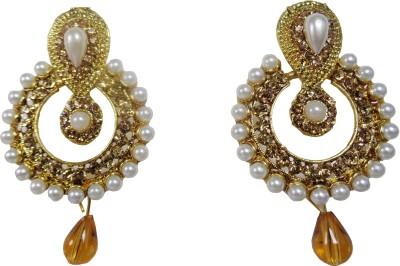 Vikash Enterprises Pearl Mother of Pearl Hoop Earring