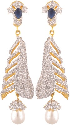 Royal Lady Festive Cubic Zirconia Alloy Drop Earring