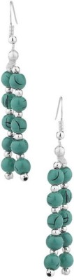 Gemshop Pair Of Turquoise Baubles Alloy Dangle Earring
