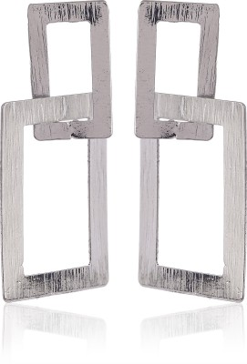 Thingalicious Trendy Linked Rectangle Alloy Drop Earring