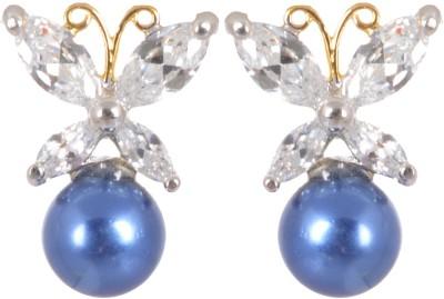 AGRIM Butterfly Studs Brass Stud Earring