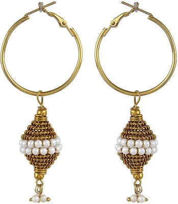Crazytowear Antique Bali Style Alloy Hoop Earring