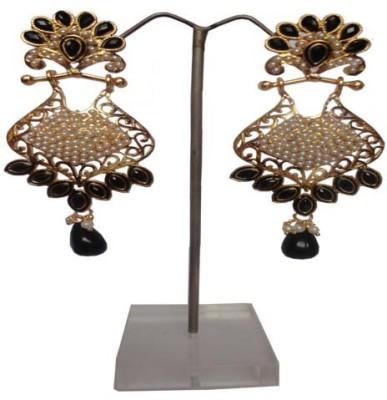 Shiny Pearls chandbali Beads Alloy Chandbali Earring