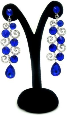 London Jewels Glittering Blue Alloy Drop Earring