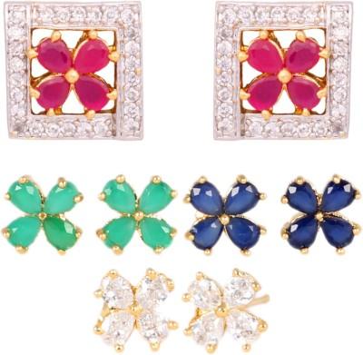 Abhijewels Cubic Zirconia Alloy Earring Set