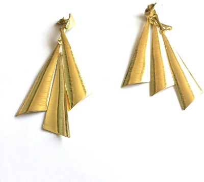 Arkina Diamonds Golden Luster Brass Chandbali Earring