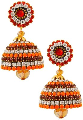 Halowishes Designer Multicolor Handcrafted Diamond Chain Jhumka Paper Jhumki Earring