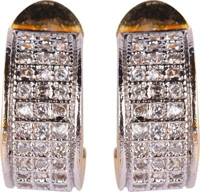Gazal Jewels Flower Zircon Copper Stud Earring