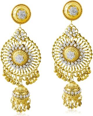 TAKSPIN Bollywood Inspired Pearl Polki Stylish Fancy Party Wear traditional Alloy Drop Earring