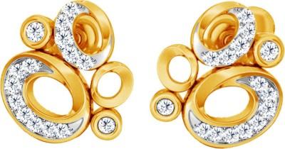 JacknJewel Enchanting Circularr Yellow Gold 18kt Diamond Stud Earring
