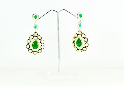 Chouhan Stylish green latkan earring Metal Drop Earring