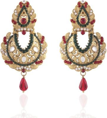 I Jewels Kundan Alloy Chandbali Earring