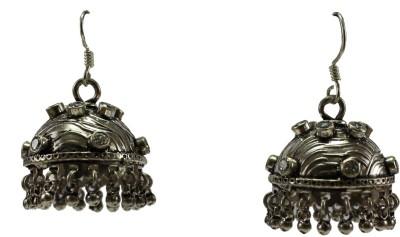 GnJ Twelve Stone Cubic Zirconia Sterling Silver Jhumki Earring