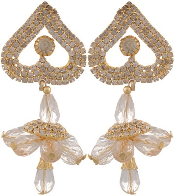 Blacksmith Golden Marigold Crystal Metal Drop Earring