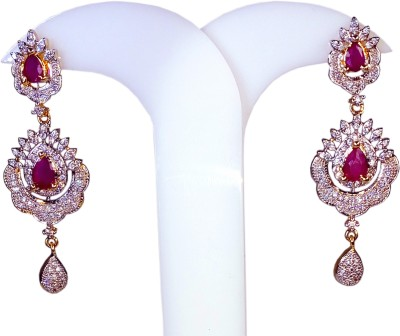 AVSM Creations Diamond Studded Artificial Alloy Drop Earring