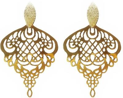 Blingxing Royal Golden Metal, Alloy Dangle Earring