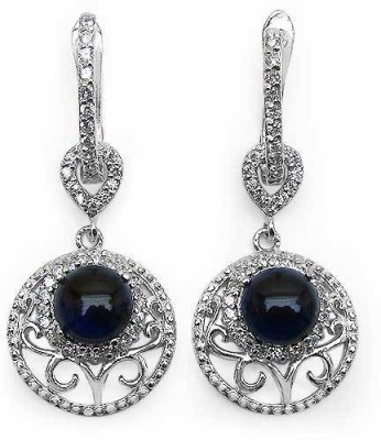 Johareez Spring Cubic Zirconia Sterling Silver Clip-on Earring