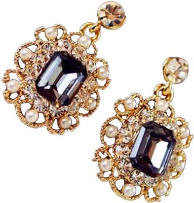 Ruvee Vintage Jasper Mirage Alloy Drop Earring