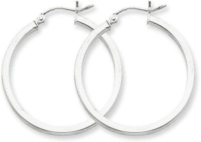 Chandrika Pearls Modern Silver Hoop Earring