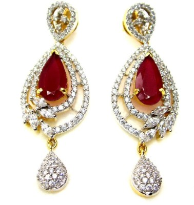Poddar Jewels Designer Cubic Zirconia Alloy Drop Earring