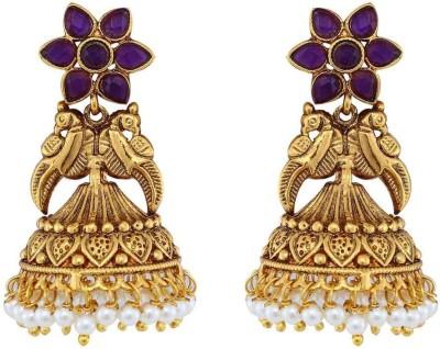 Jewlot Amazing Kundan 1095 Brass Jhumki Earring